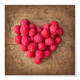 Poster Heart from berries