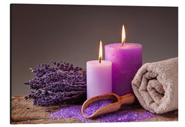 Alu-Dibond  Spa still life with candles and lavender - Elena Schweitzer