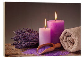 Bois  Spa still life with candles and lavender - Elena Schweitzer