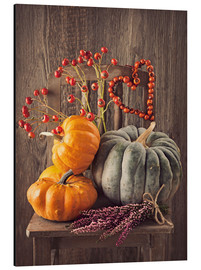 Alu-Dibond  Still life with the pumpkins - Elena Schweitzer