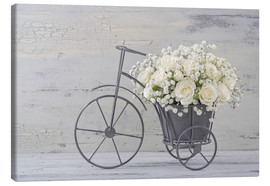 Tableau sur toile  Roses blanches - Elena Schweitzer