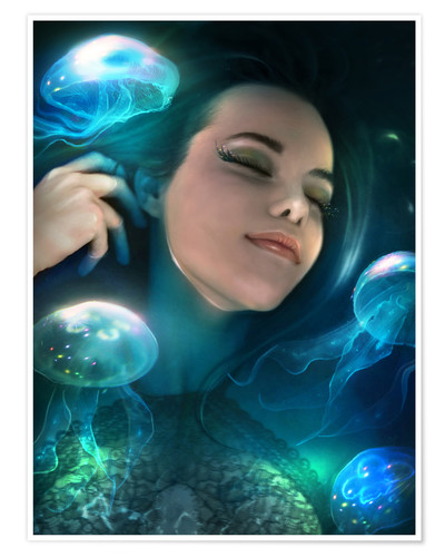 Poster Dreaming of jellyfish