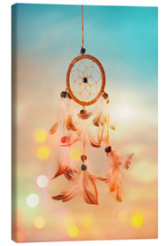 Tableau sur toile  Dream catcher and abstract bokeh background - Elena Schweitzer