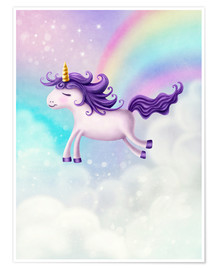 Poster  Unicorn with rainbow - Elena Schweitzer