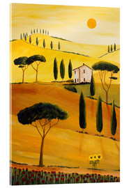 Tableau en verre acrylique  Colored Tuscany - Christine Huwer
