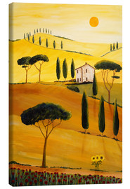Tableau sur toile  Colored Tuscany - Christine Huwer