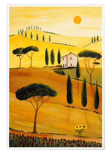 Poster Colored Tuscany