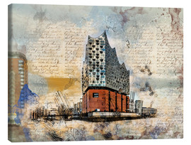 Tableau sur toile  The new Elbphilharmonie in Hamburg - Peter Roder