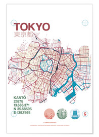 Poster Tokyo city map
