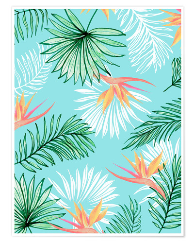 Poster Paume tropicale