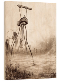 Tableau en bois  The Fighting Machine - Henrique Alvim Correa