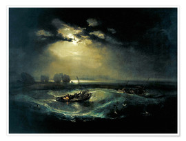Poster  Fisherman on lake - Joseph Mallord William Turner