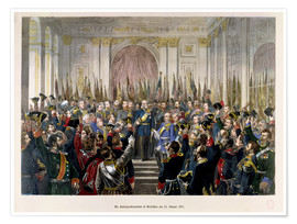 Poster The Proclamation of Wilhelm as Kaiser of the new German Reich