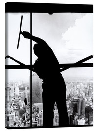 Tableau sur toile  Empire State Window Washer