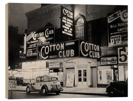 Tableau en bois  Cotton Club à Harlem, New York