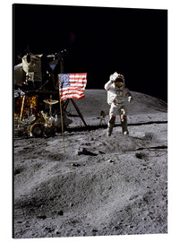 Alu-Dibond  Astronaut of the 10th manned mission Apollo 16 on the moon