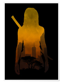 Poster  The Walking Dead - Michonne - HDMI2K