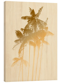Bois  Palm trees design poster - tobacco - Alex Saberi