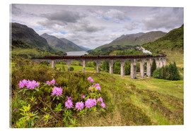 Verre acrylique  Glenfinnan Viaduct in Scotland with Jacobite Steam Train - Michael Valjak