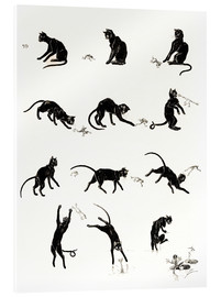 Verre acrylique  The cat and the frog - Théophile-Alexandre Steinlen