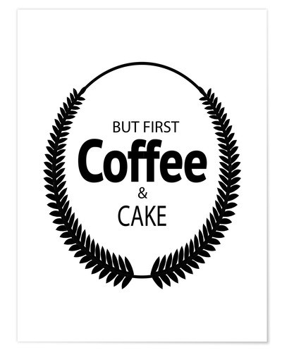 Poster Coffee & cake