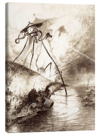 Tableau sur toile  Martian Fighting Machine in the Thames Valley - Henrique Alvim Correa