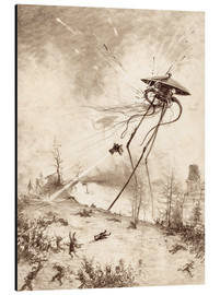 Tableau en aluminium  Martian Fighting Machine Hit by Shell - Henrique Alvim Correa