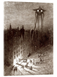 Tableau en verre acrylique  Martian Viewing Drunken Crowd - Henrique Alvim Correa