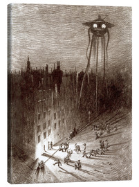 Tableau sur toile  Martian Viewing Drunken Crowd - Henrique Alvim Correa