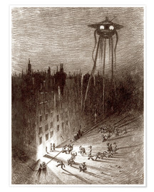 Poster  Martian Viewing Drunken Crowd - Henrique Alvim Correa