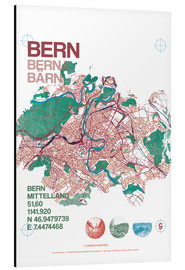 Tableau en aluminium  City motif Bern card - campus graphics