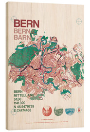 Bois  City motif Bern card - campus graphics