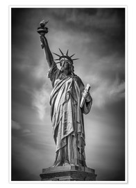 Poster  NEW YORK CITY Statue of Liberty - Melanie Viola