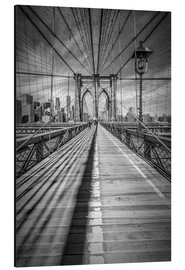 Alu-Dibond  NEW YORK CITY - Pont de Brooklyn  - Melanie Viola