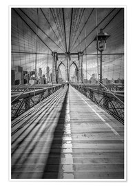 Poster  Pont de Brooklyn à New York - Melanie Viola