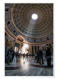 Poster The Pantheon in Rome, Italy