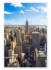 Poster  Vue sur Manhattan, New York - Jan Christopher Becke