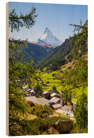 Bois  View of Zermatt and the Matterhorn, Swiss Alps, Switzerland - Jan Christopher Becke
