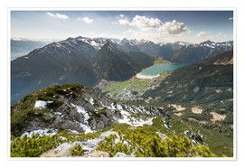 Poster View of the Achensee from Ebnerjoch