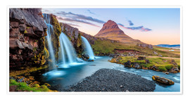 Poster  Magical Iceland, Waterfall on Snaefellsnes - Sascha Kilmer
