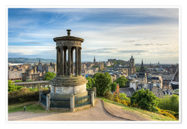 Poster  Edinburgh view from Calton Hill - Michael Valjak