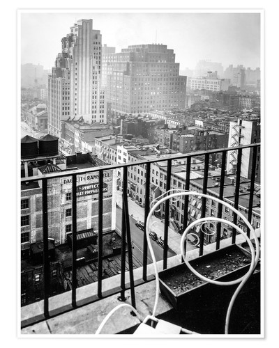 Poster New York: View from penthouse, 56 Seventh Avenue, Manhattan