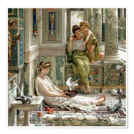 Poster  The corner of the villa - Sir Edward John Poynter