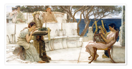 Poster  Sappho and Alcaeus - Lawrence Alma-Tadema