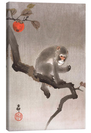 Tableau sur toile  Monkey in a Tree - Ohara Koson