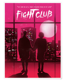 Poster  Fight club (anglais) - 2ToastDesign