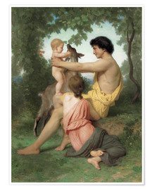 Poster Idylle : famille antique