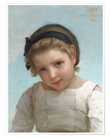 Poster Portrait of a Young Girl