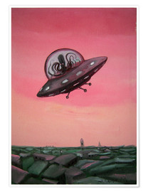 Poster  Visit from space - Diego Manuel Rodriguez