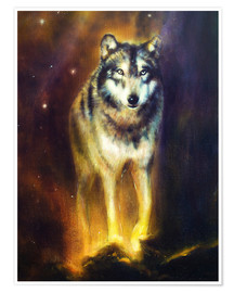 Poster  Loup cosmique - Kidz Collection